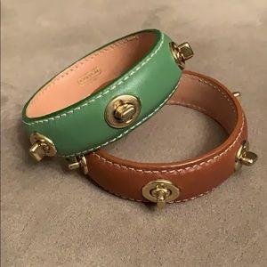 COACH Leather Cuff Bracelets
